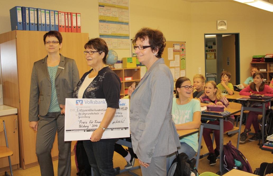 easyCredit-Finanzielle Bildung 2014 für die Heidegrundschule Spremberg